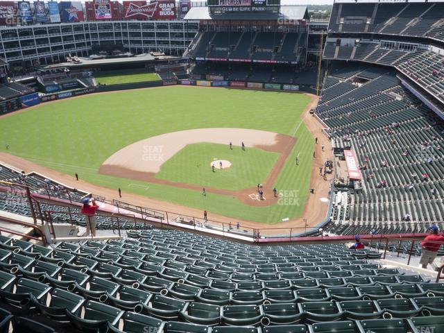 Globe Life Park Section 323 view