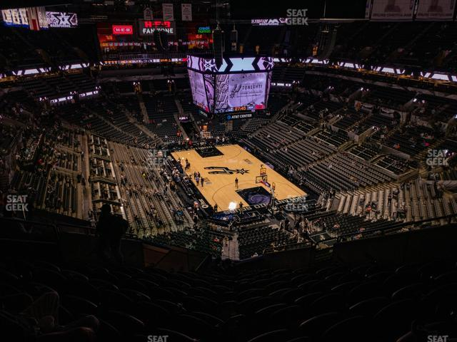 AT&T Center Section 202 view