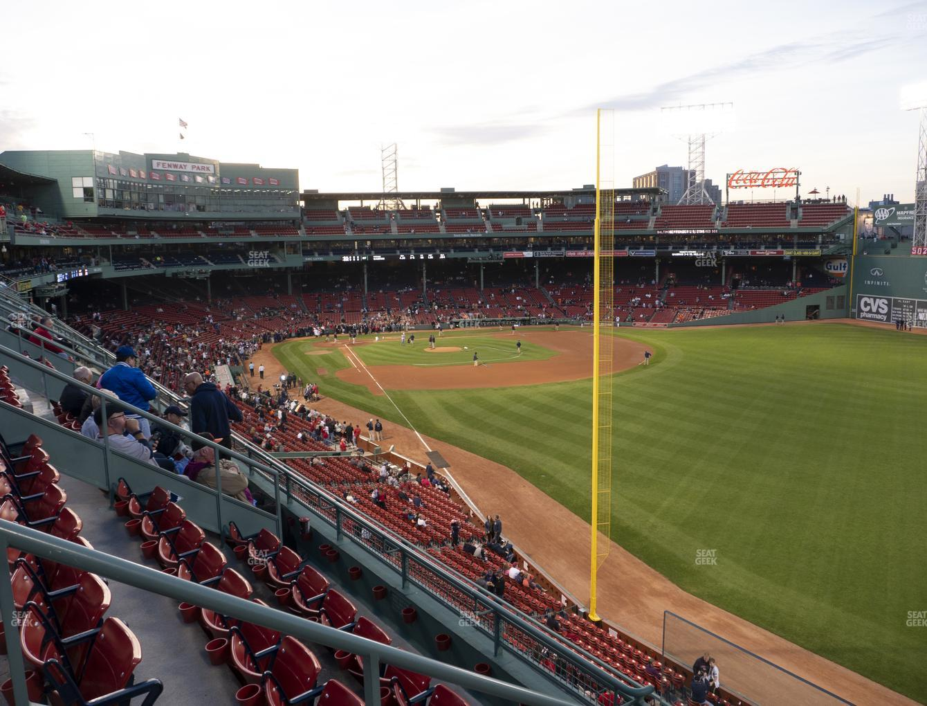 Boston Red Sox at Fenway Park Right Field Roof Box 39 View