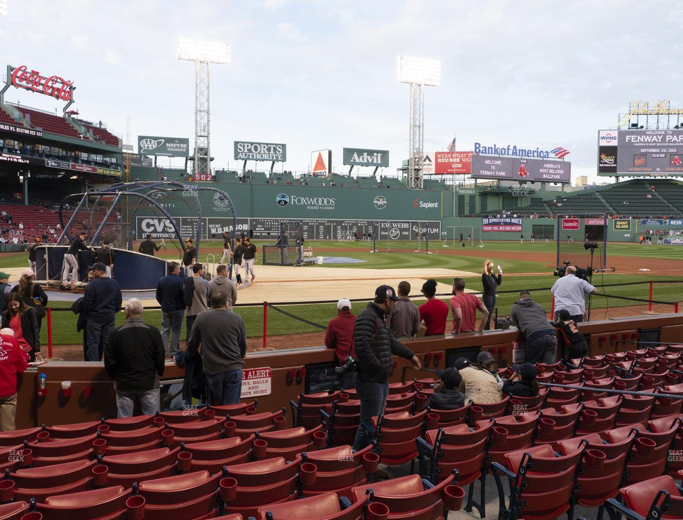 Boston Red Sox at Fenway Park Field Box 38 View