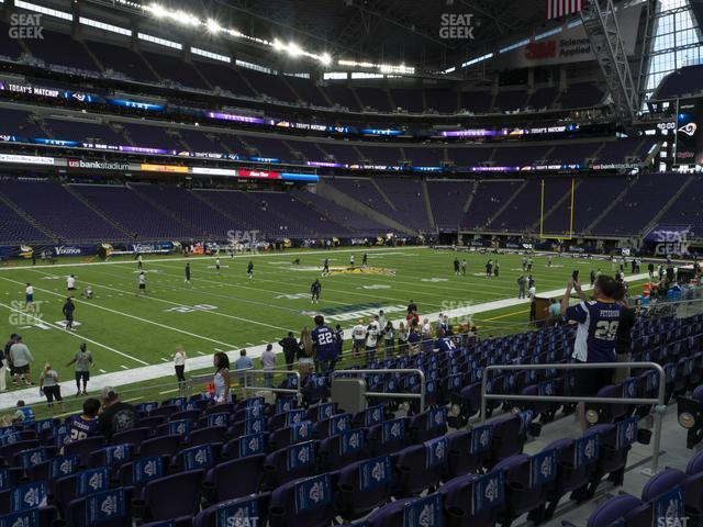 U.S. Bank Stadium Section 134 view