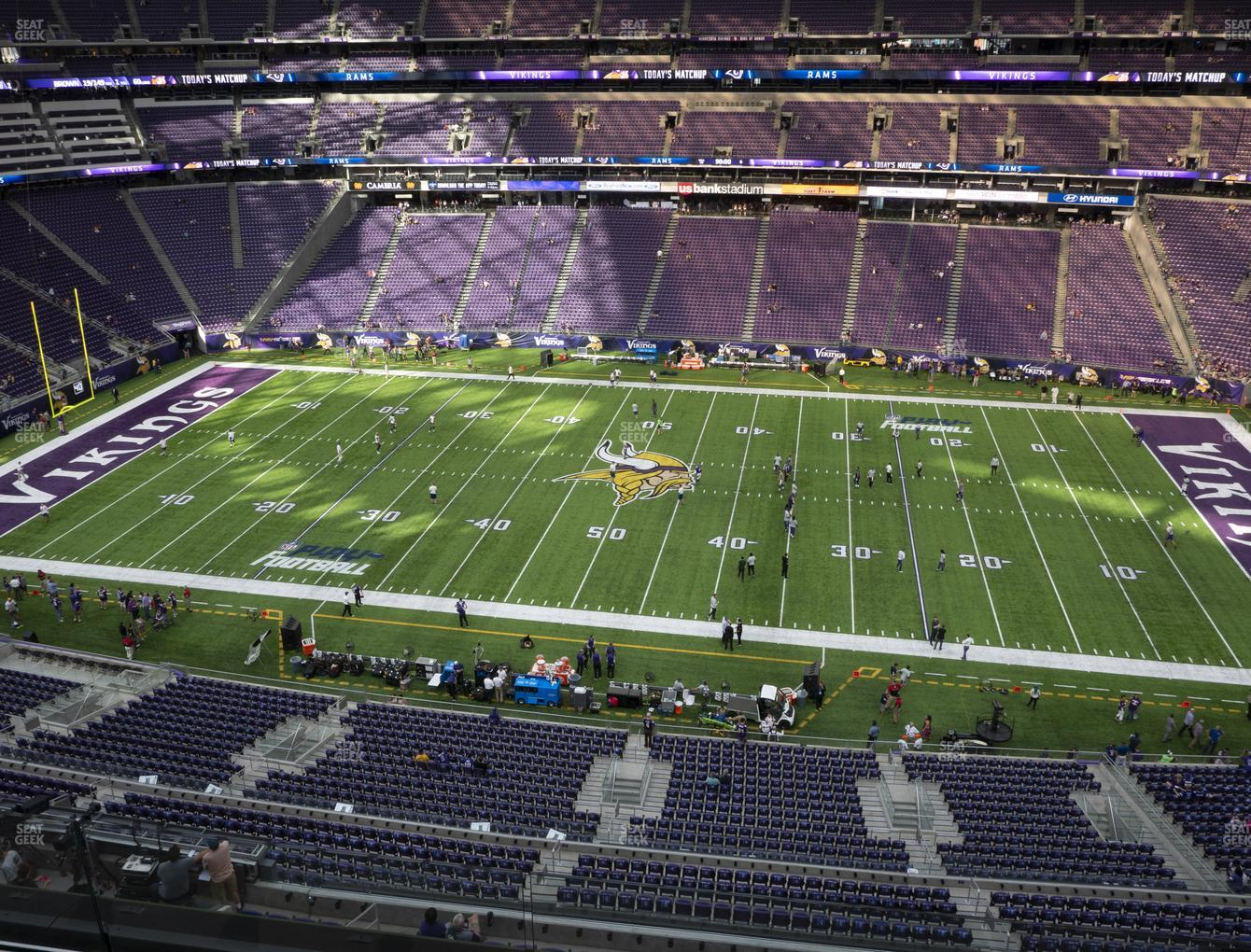 Minnesota Vikings at U.S. Bank Stadium Section 340 View