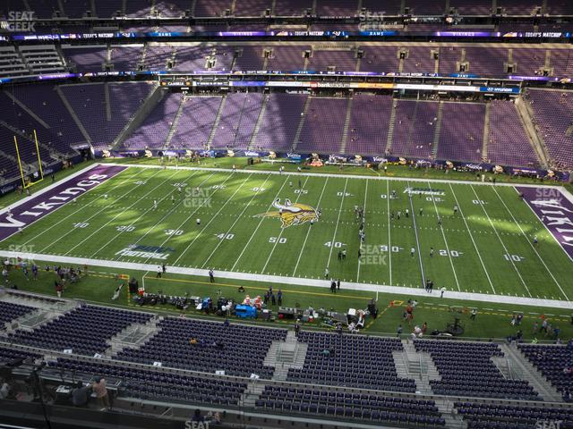 U.S. Bank Stadium Section 340 view
