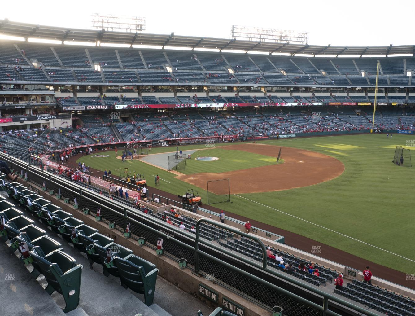 Los Angeles Angels at Angel Stadium of Anaheim Section 342 View