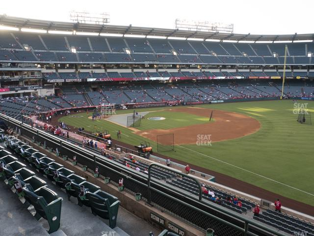 Angel Stadium of Anaheim Section 342 view