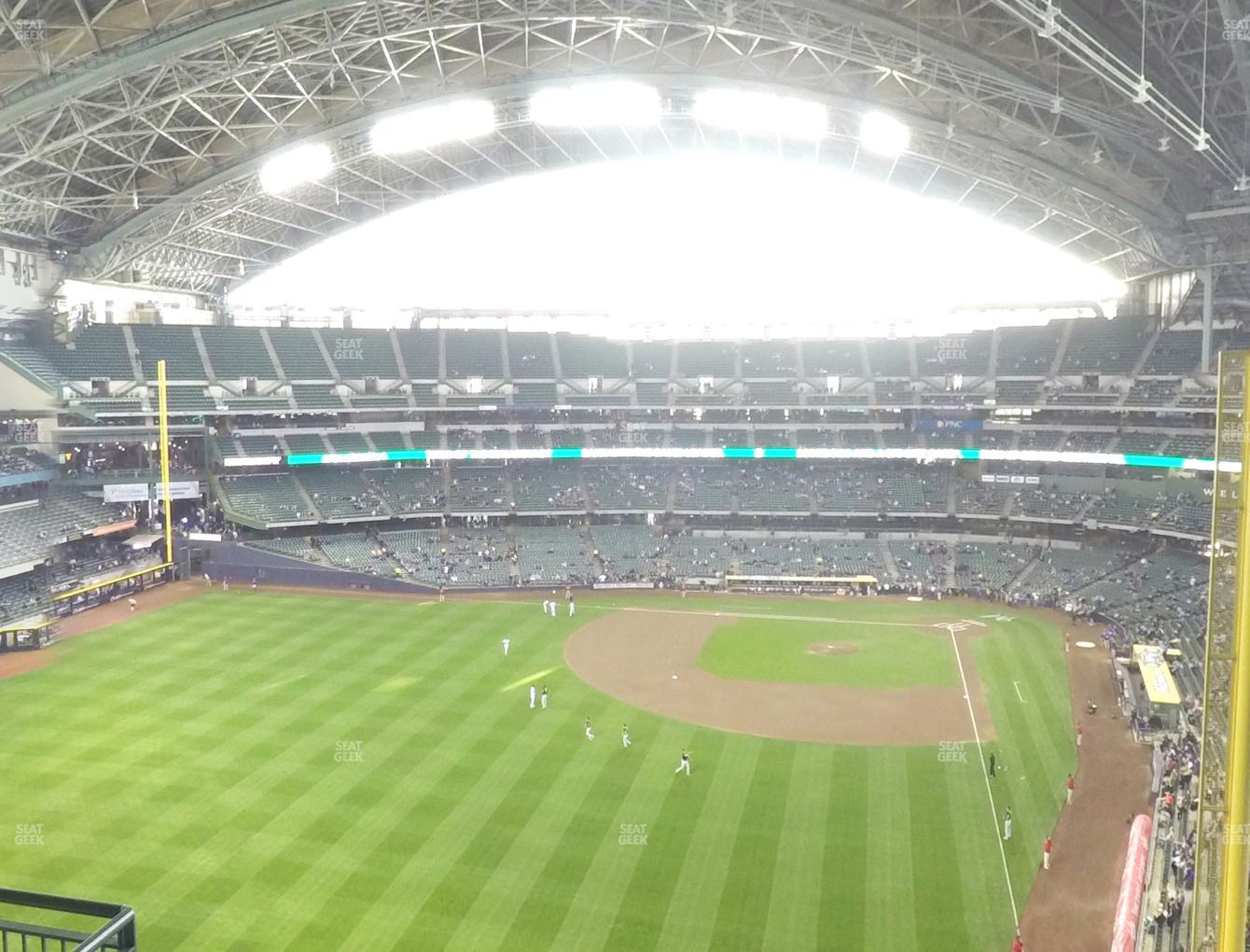 Milwaukee Brewers at Miller Park Section 441 View