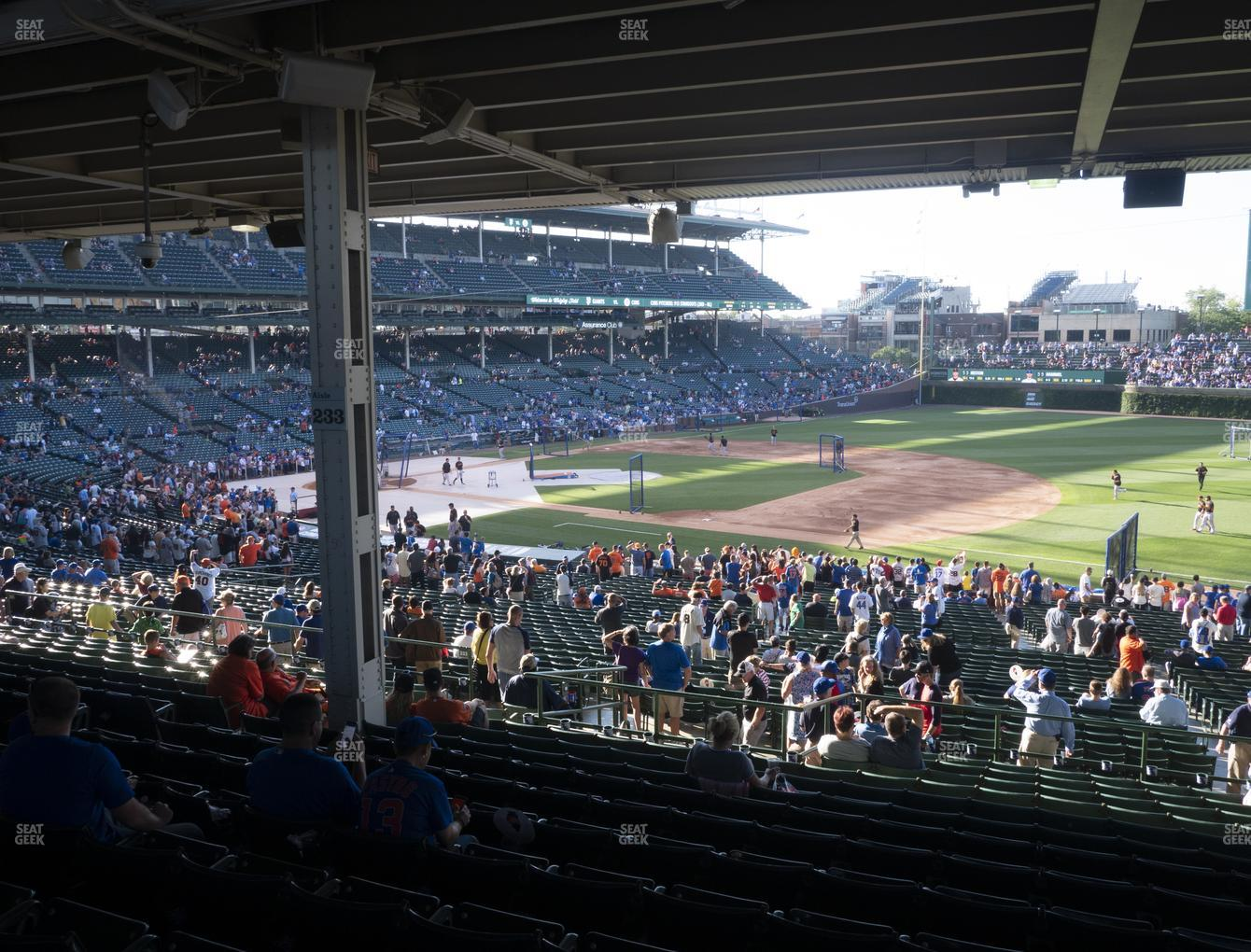 Chicago Cubs at Wrigley Field Section 227 View