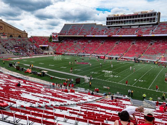 Camp Randall Stadium Section Q view