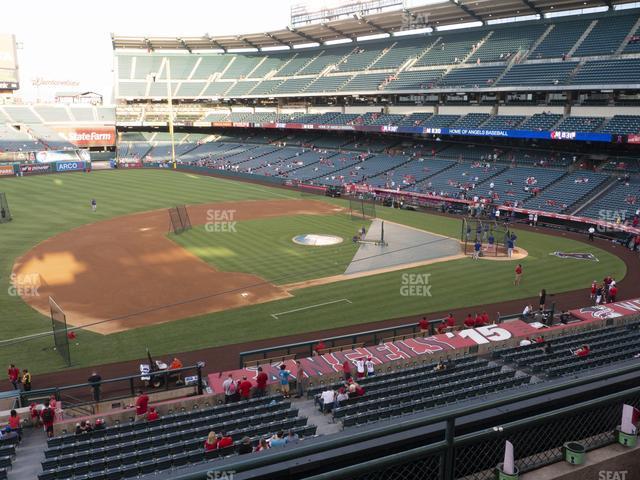 Angel Stadium of Anaheim Section 315 view