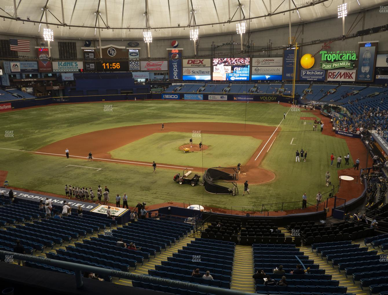 Tampa Bay Rays at Tropicana Field Section 205 View