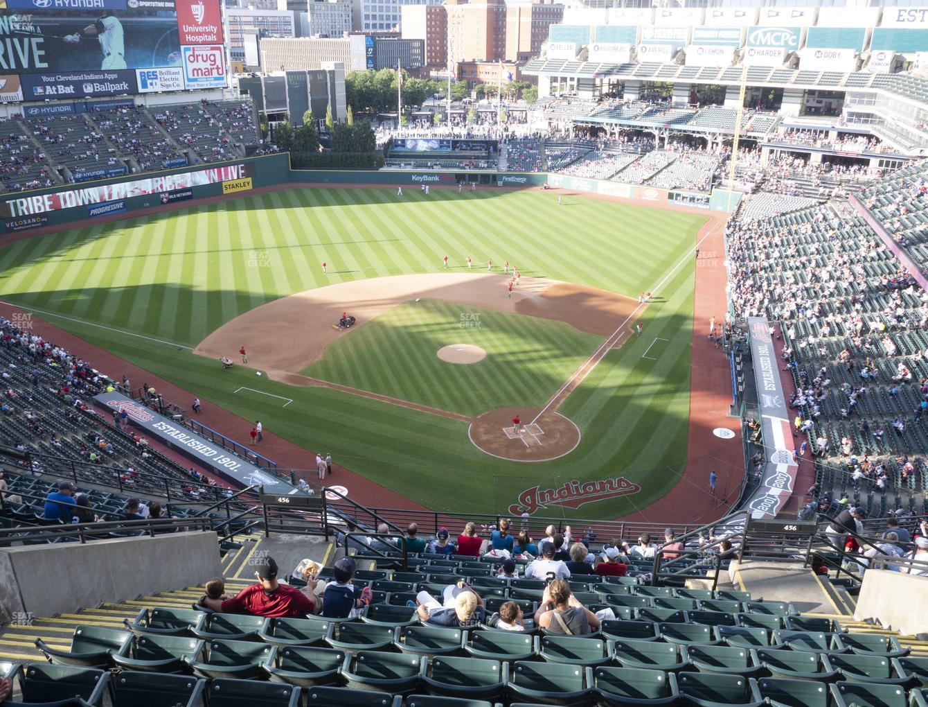 Cleveland Indians at Progressive Field Section 556 View