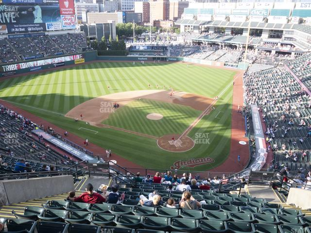Progressive Field Section 556 view