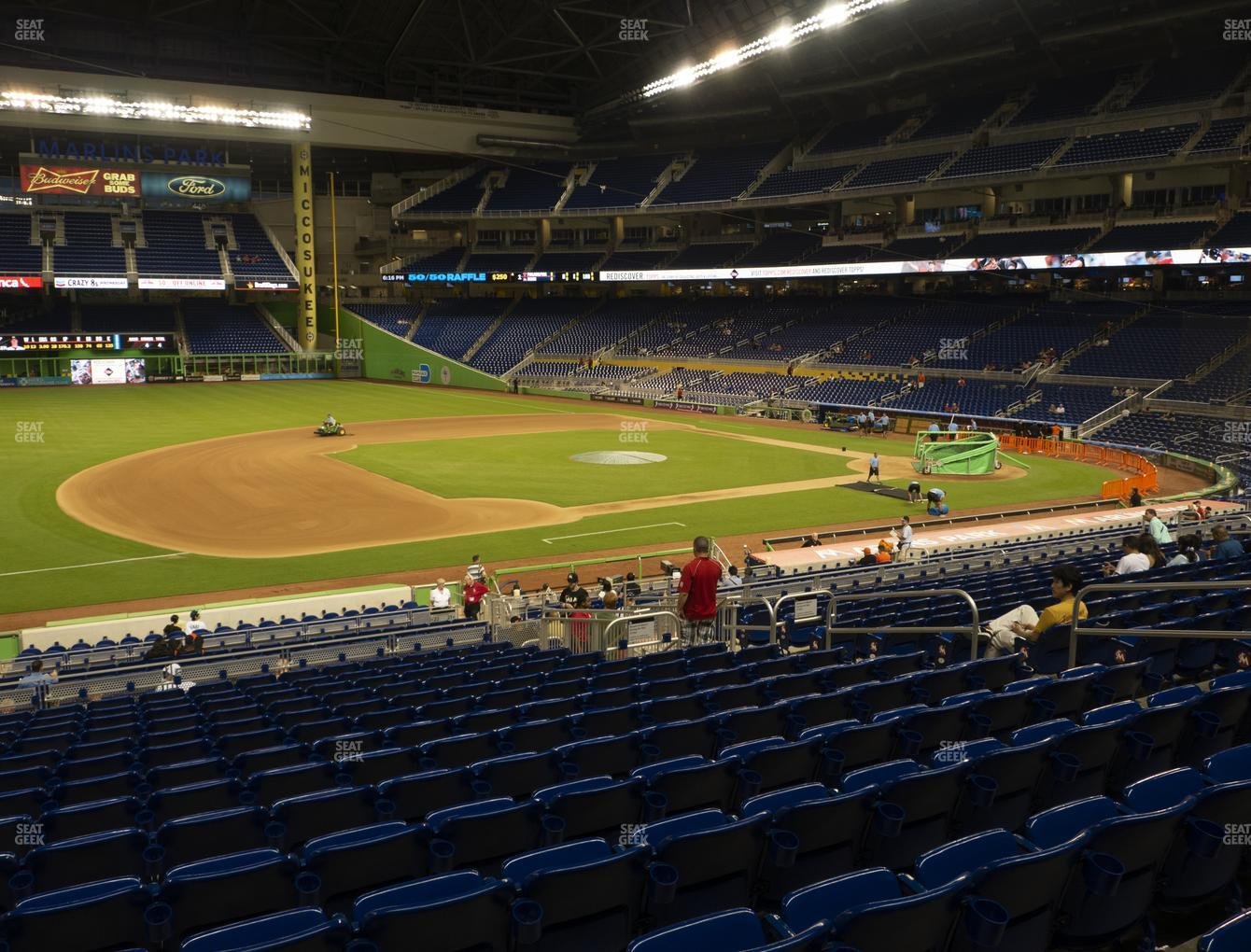 Miami Marlins at Marlins Park Section 22 View