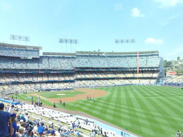 Dodger Stadium Loge Box 160 view