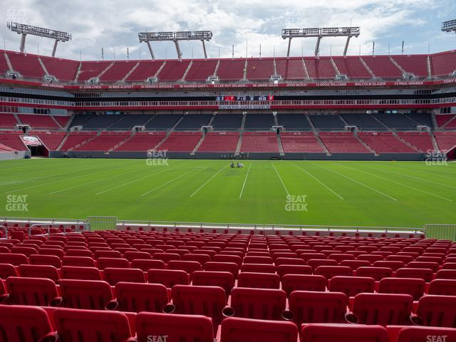 Raymond James Stadium Section 111 view