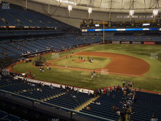 Tropicana Field Section 214 view