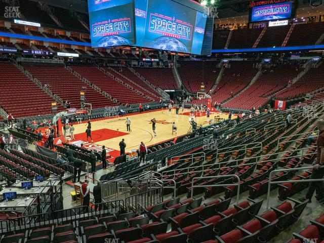 Toyota Center Section 124 view