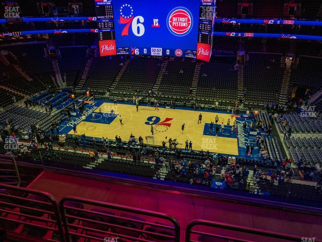 Wells Fargo Center Section 202 view