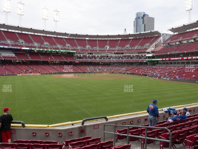 Great American Ball Park Section 101 view
