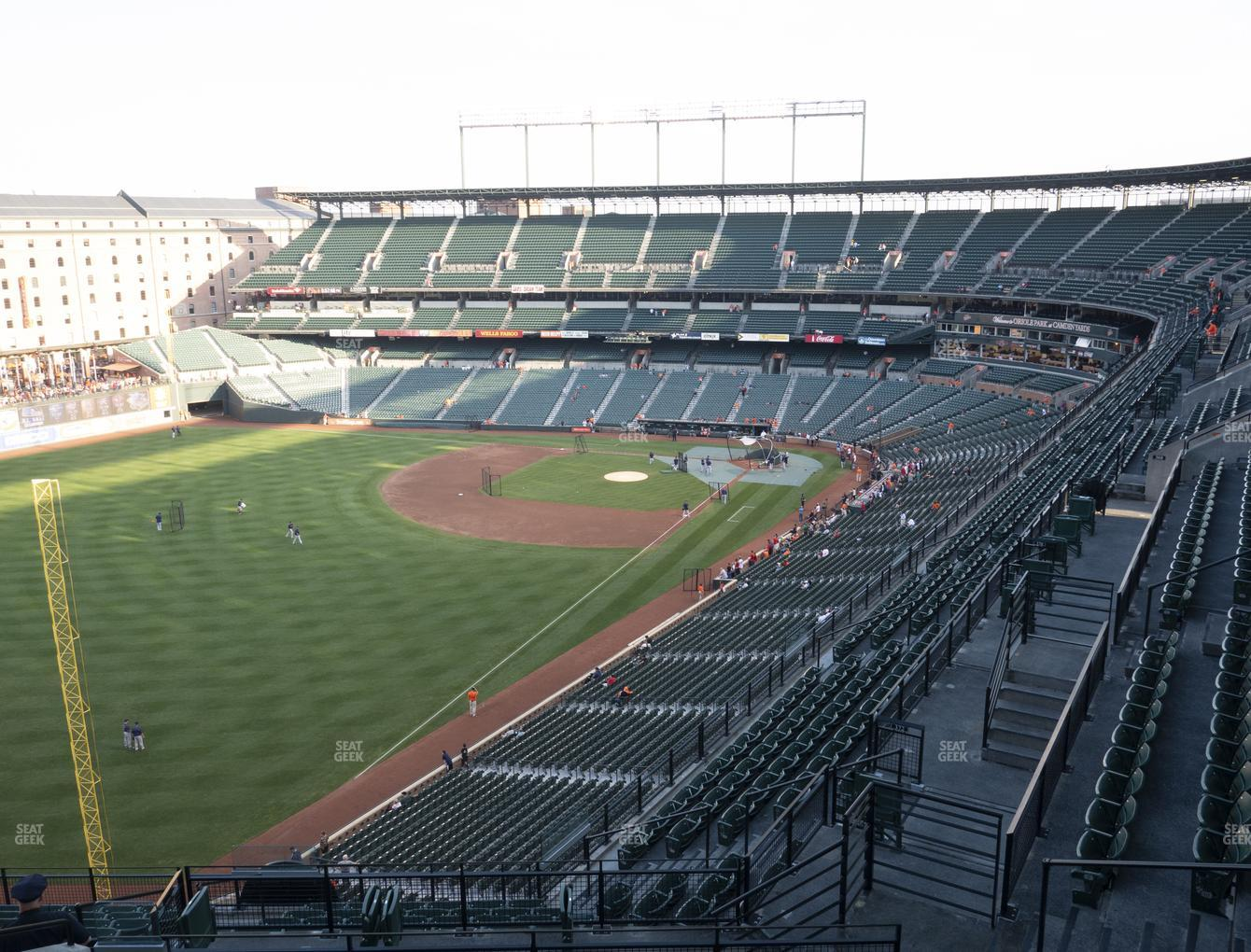 Baltimore Orioles at Oriole Park at Camden Yards Section 372 View