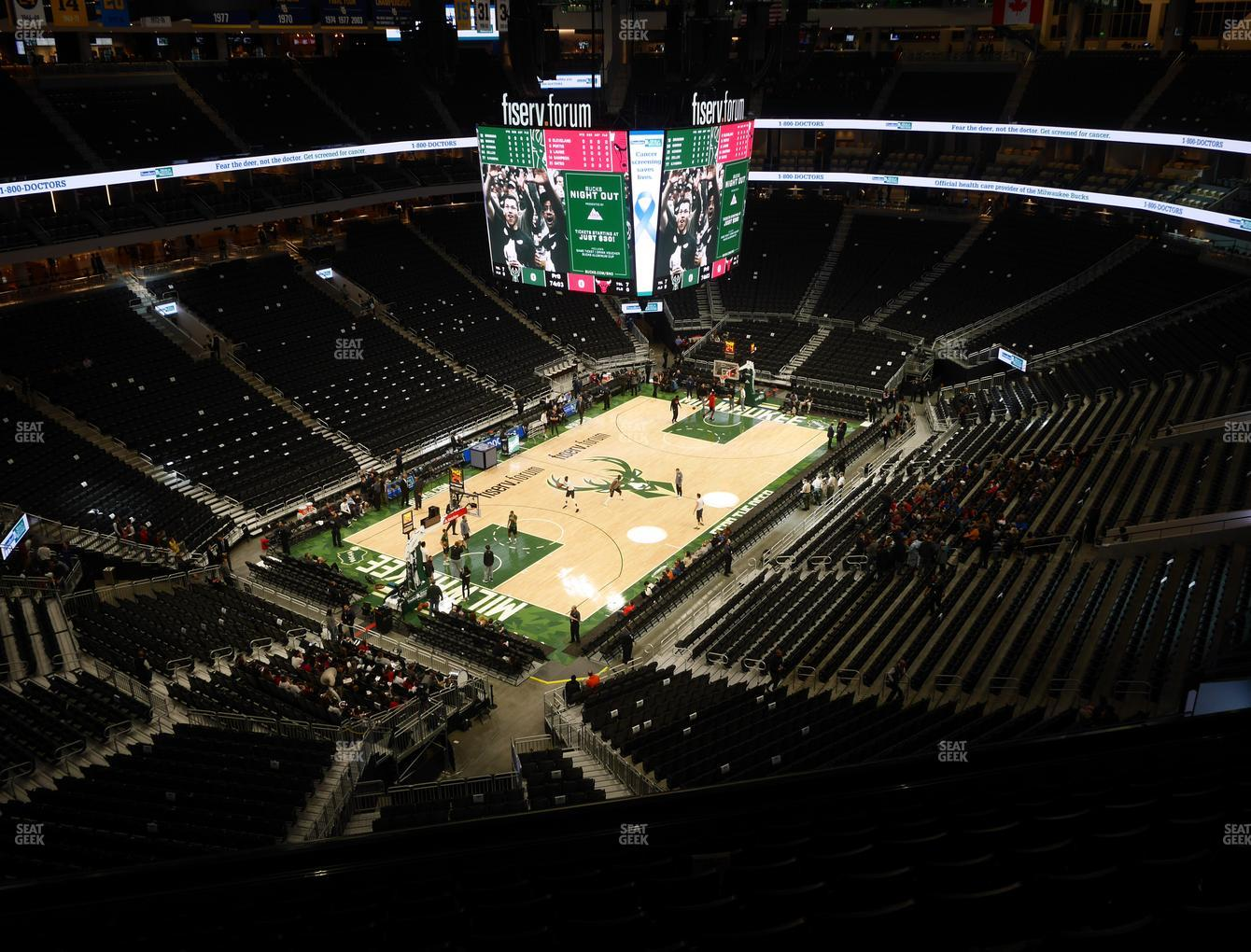 Milwaukee Bucks at Fiserv Forum Section 212 View