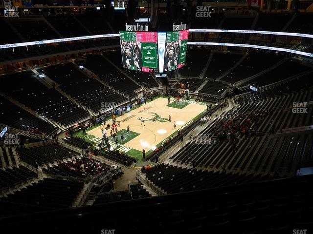 Fiserv Forum Section 212 view