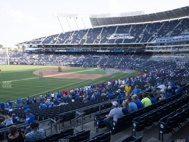 Kauffman Stadium Section 211 view
