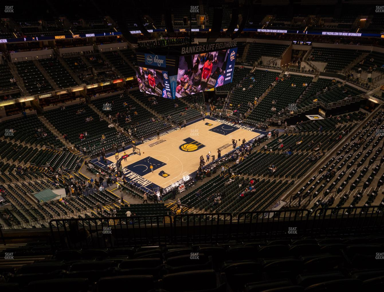 Indiana Pacers at Bankers Life Fieldhouse Section 212 View