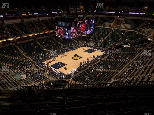 Bankers Life Fieldhouse Section 212 view