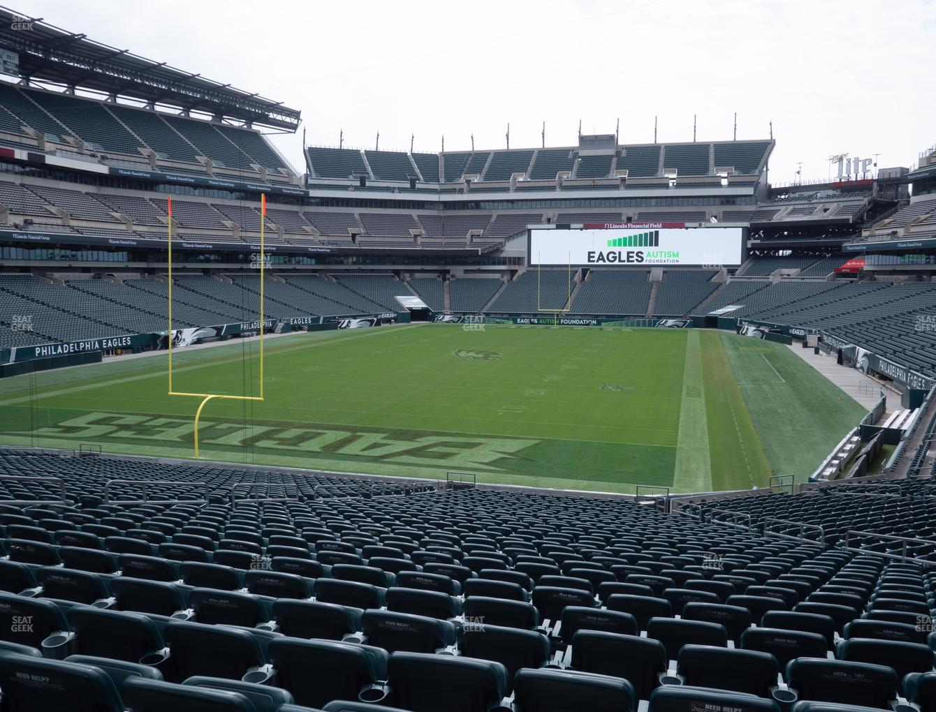 Philadelphia Eagles at Lincoln Financial Field Section 130 View