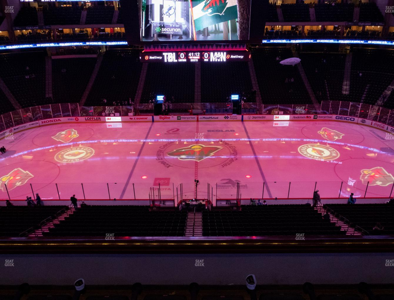 Minnesota Wild at Xcel Energy Center Section Club 6 View