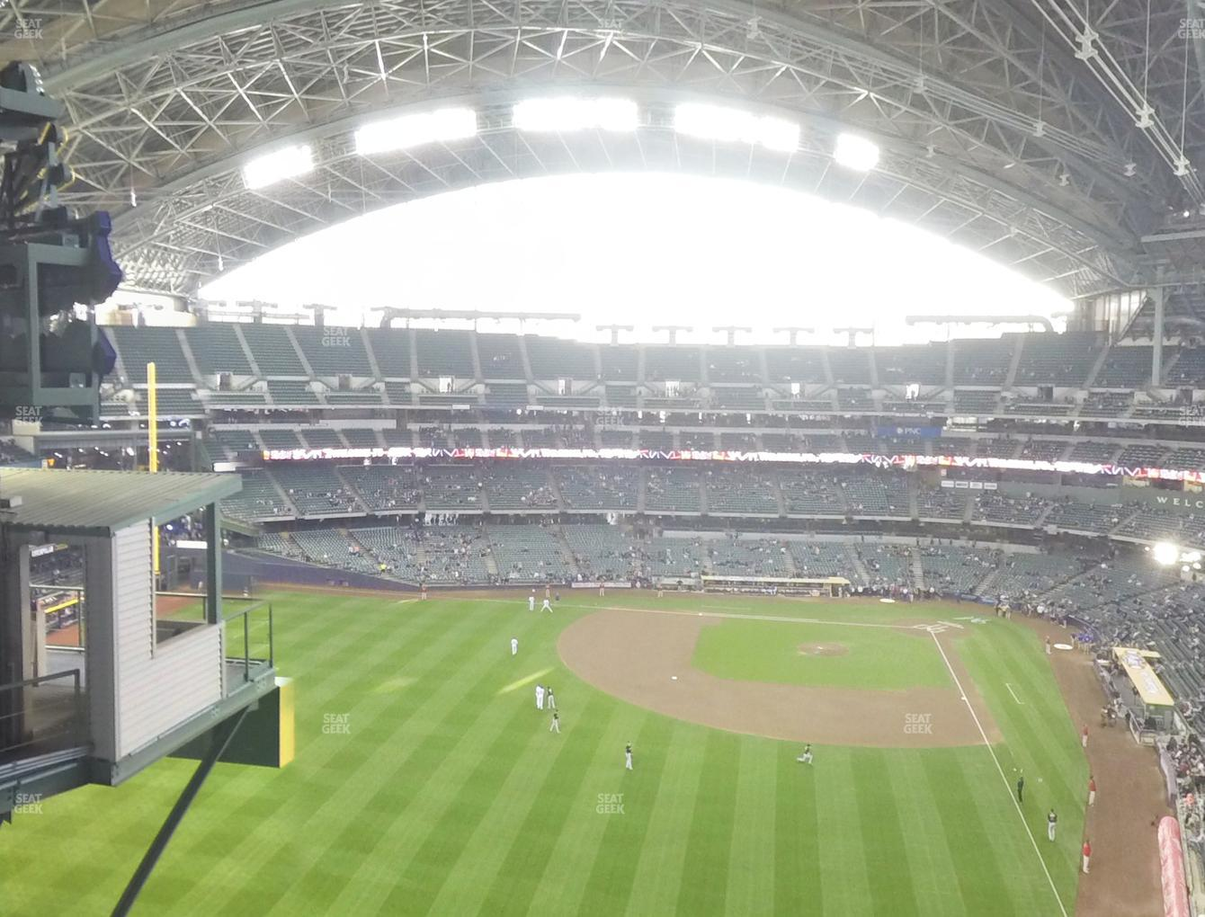 Milwaukee Brewers at Miller Park Section 442 View