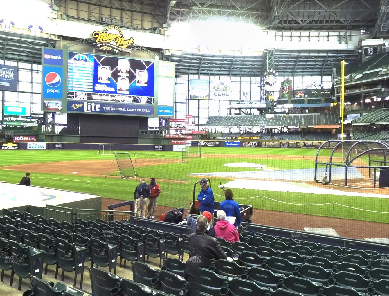 Milwaukee Brewers at Miller Park Section 120 View