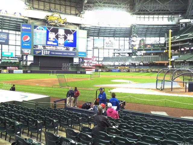 Miller Park Section 120 view
