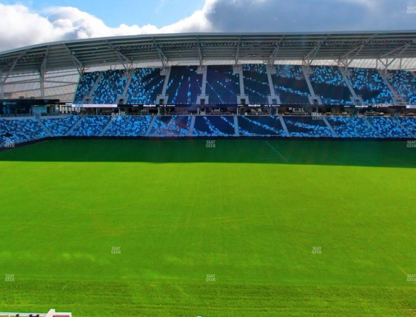 Minnesota United FC at Allianz Field Section 133 View