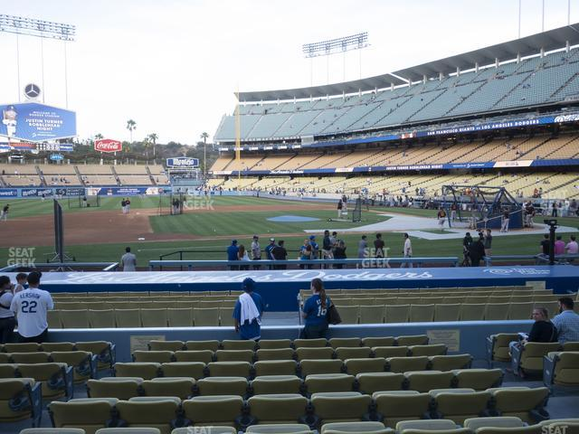 Dodger Stadium Field Box 19 view