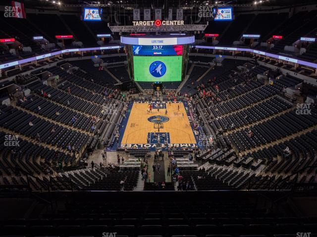 Target Center Section 201 view