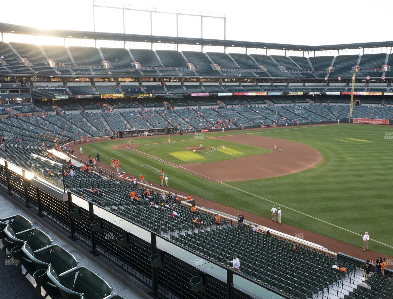 Baltimore Orioles at Oriole Park at Camden Yards Section 210 View