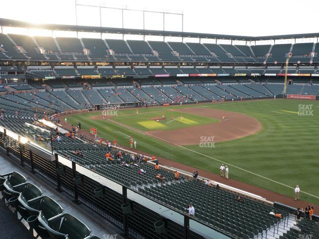 Oriole Park at Camden Yards Section 210 view