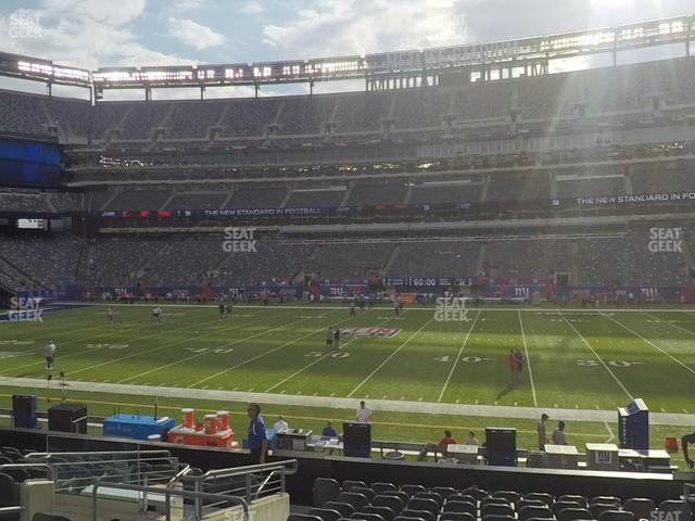 MetLife Stadium Section 112 view