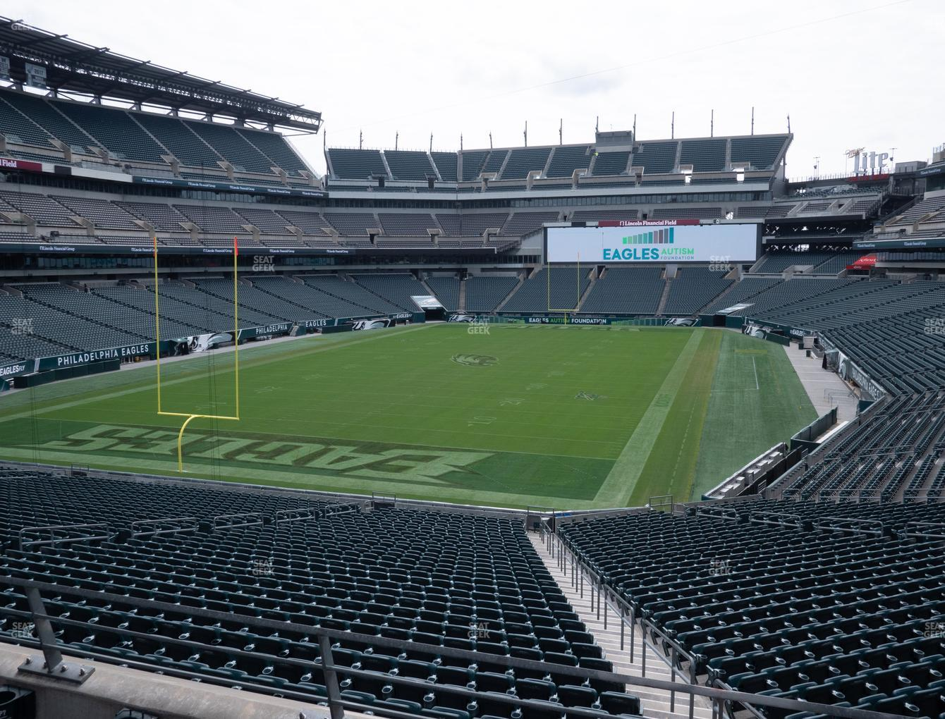 Philadelphia Eagles at Lincoln Financial Field Section 131 View