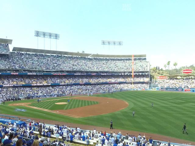 Dodger Stadium Loge Box 152 view