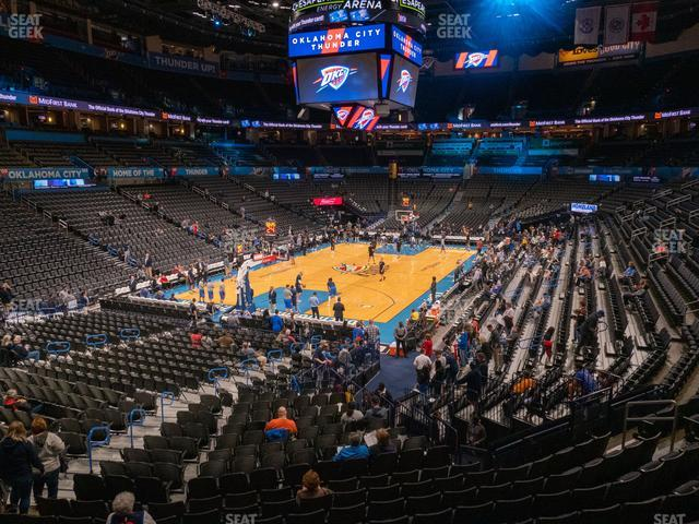 Chesapeake Energy Arena Terrace Suite 228 view