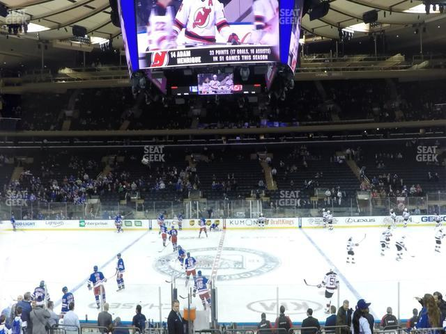 Madison Square Garden Section 107 view