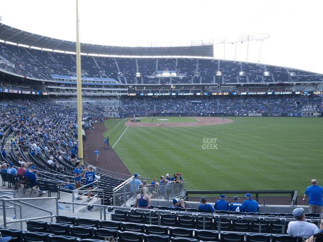 Kauffman Stadium Section 250 view