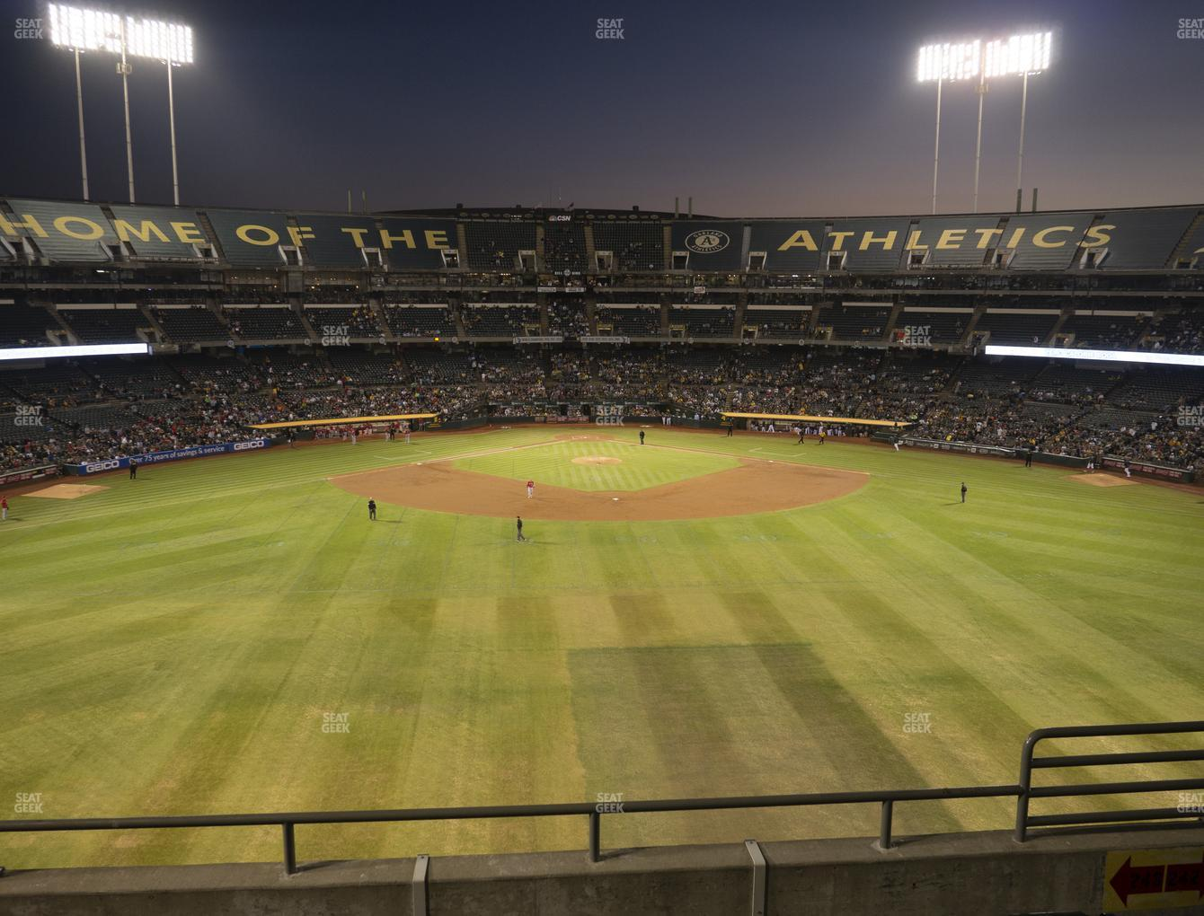 Oakland Athletics at RingCentral Coliseum Section 243 View