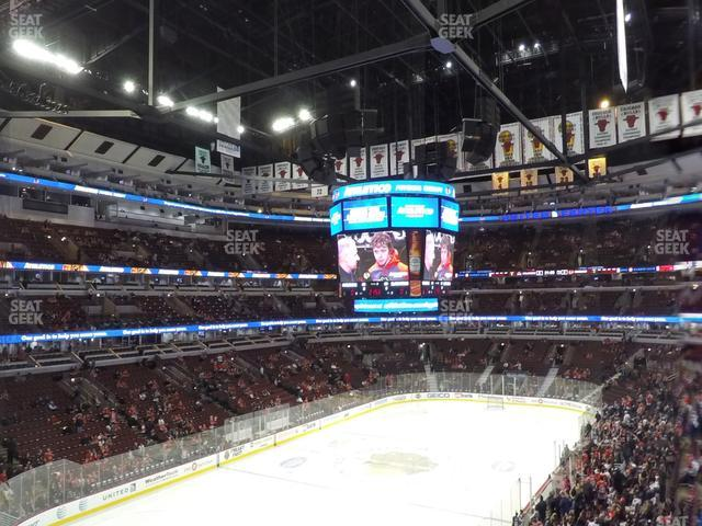 United Center Section 206 view