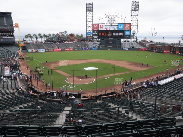 Oracle Park Section 214 view