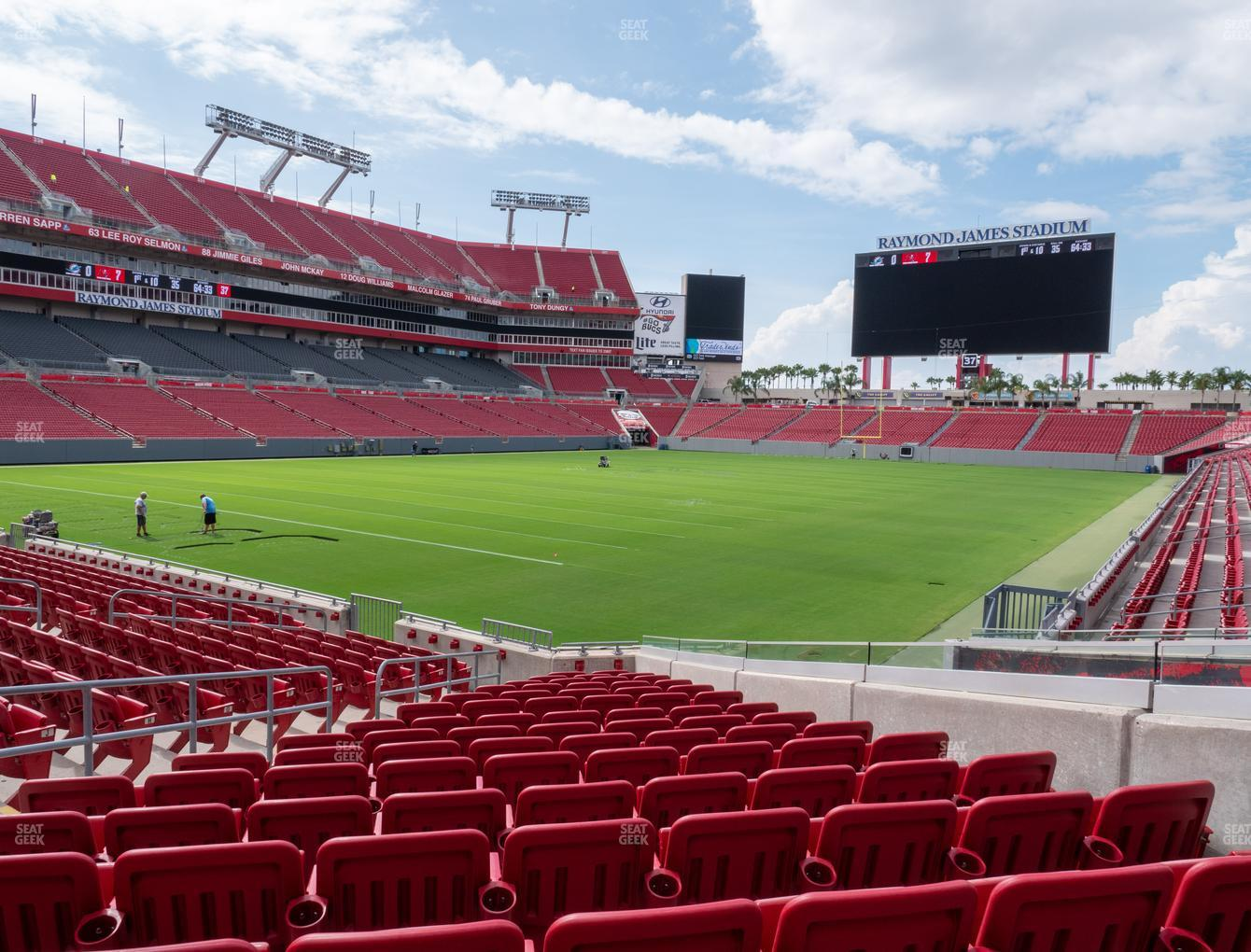 Tampa Bay Buccaneers at Raymond James Stadium Section 102 View