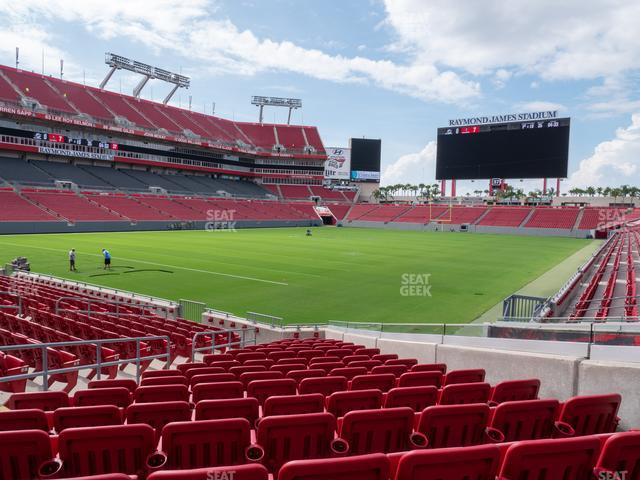 Raymond James Stadium Section 102 view